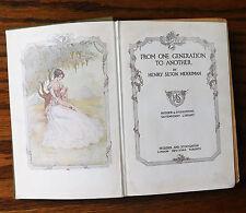 Von einer Generation zur nächsten Victorian Roman von Henry Seton Merriman 1912 Buch