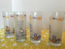 Coco Lopez Tiki Parrot Frosted Pina Colada Glasses Lot 4 Libbey Barware 10 oz