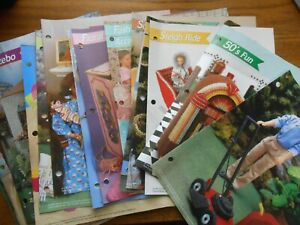 Lot of 44 Annie's Plastic Canvas Patterns Barbie Furniture Accessories Clothing