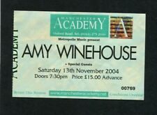 2004 Amy Winehouse Concert Ticket Manchester UK England Back To Black