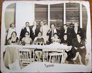Cuba/Cuban 1950s Photograph: People Drinking Coca-Cola at Restaurant Table, Bar