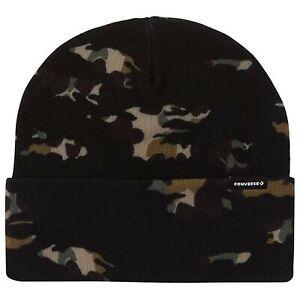 Converse All Star Space Mountain Black Camo Fleece Beanie Hat CONV 10018020
