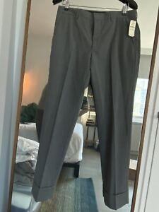 Prada Trousers Gray Virgin Wool Slim Cuffed Crop Pants EU 46 30x30