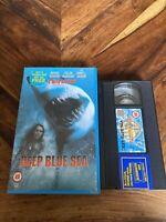 Deep Blue Sea Big Box VHS Video Tape Cassette Ex Rental
