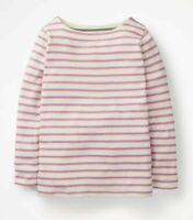 Girls New Ex Boden Breton T-Shirt lilac Stripe long sleeve Age 2-16 Yrs RRP £20