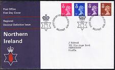 Northern Ireland Decimal Definitive Issue First Day Cover 7th July 1971