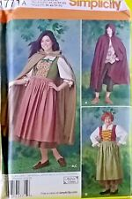 Simplicity Pattern 1771 a 8 18 XS XL Misses and Men S Costume