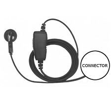 1-Wire Earbud Earpiece Headset Inline PTT for Icom Multi-Pin Radios (See List)