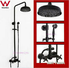Black oil Antique Brass Bathroom Wall Mounted Rain Shower Faucet Set WELS