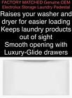 """Factory Matched New OEM ELECTROLUX 15"""" Storage PEDESTAL WASHER/DRYER photo"""