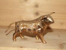 Vintage hand made brass bull figurine