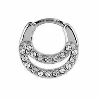1 X 1.6mm de acero quirúrgico pezón anillo Escudo Clicker terreno