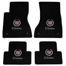 NEW! BLACK FLOOR Mats 2003-2007 Cadillac CTS Crest & Script Double Logo All 4