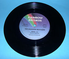 "Shannon Brothers -Rosie b/w Johnny Brown (7"" Vinyl Single Rainbow Records RBS36)"