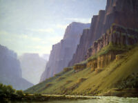 Canvas Print Oil painting Picture Valley scenery printed on canvas L321