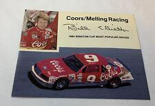 1985 BILL ELLIOTT promo 5x7 postcard ~ NASCAR