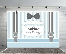 Stripes Photography Backgrounds Little Man Birthday Baby Shower 7x5ft Backdrops