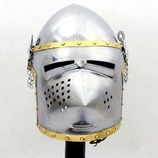 Viking Nasal Medieval Knight Helmet Crusader SCA Armour Battle Fantasy Helmet