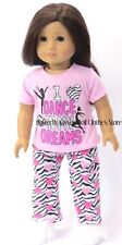 Dance In My Dreams Zebra Pajamas Fits 18 in American Girl Doll Clothes Isabelle