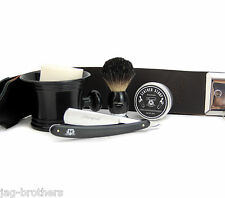 COMPLETE VINTAGE STYLE BARBER SALON MEN'S SHAVING & GROOMING SET