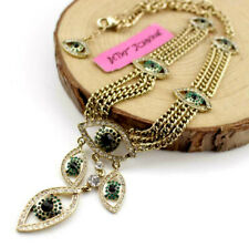 Jewelry Pendant Betsey Johnson Rhinestone eye clavicle Chain Necklace gift Free