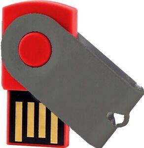 USB Germany Mini Swivel USB Stick Red/Metallic USB 2.0