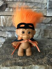 """Russ Troll Doll! 3"""" Orange Hair Brown Eyes! Mask And Cape For Halloween!"""