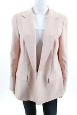 Lafayette 148 New York Womens Collared Blazer Jacket Top Pink Size 10