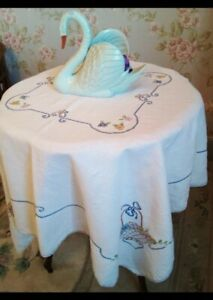 Beautiful Cotton Tablecloth - Flower Baskets & Bows.