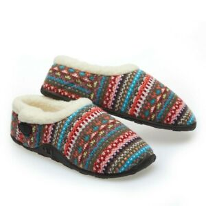 Homeys Ladies Erin Grey Nordic Slippers NEW