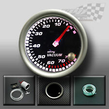 "Vacuum gauge 52mm 2"" smocked dial face 7 colour display dash panel mount pod"
