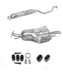 Mittel & Endtopf Auspuff Auspuffanlage Opel Zafira A  1,6 1.8 2,2 16V +Anbausatz