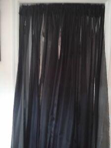 "Wedding drapes 2 panel set 7'x 57"" White Ivory more colors Backdrop Room divider"