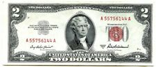 1953A Two Dollar US Note, Red Seal $2 Bill, Monticello, Nice Crisp Uncirculated!
