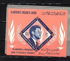JORDAN - President John Kennedy SOUVENIR SHEET MNH  HCV  LOT ( JORD  03)
