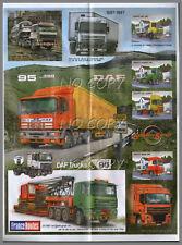 POSTER CAMION RéTRO DAF 1987 - 1997 56X42cm
