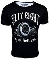 BILLY EIGHT ★ Holy Hell Rod ★ Rockabilly Hot Rat US Car Kult T-Shirt für Herren