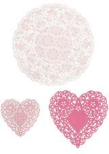 30 Mix Darling Shabby Chic Corazón tapetes de San Valentín Fiesta Vajilla pkdoilies