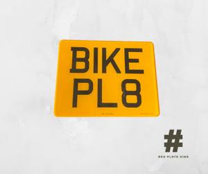 Motorbike Number Plate - Road & MOT Legal 9X7