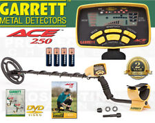 GARRETT ACE 250 Metal Detector with Waterproof Coil 2 YEAR WARRANTY + DVD NEW