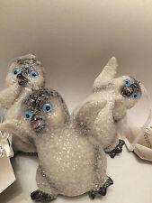 decorazione di Natale 3 x FELICE DA PARETE GLITTERATA luccicante DANZA piede