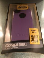 iPhone 4/ 4S Genuine OtterBox Commuter Series Case Purple/ White