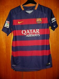 Barcelona Football Shirt Nike 2015 home shirt size XLB age 13-14 Neymar Jr 11