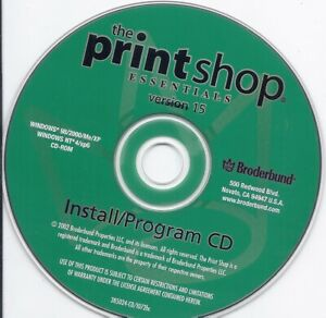 The Print Shop Essentials version 15 by Broderbund (create art design creative)