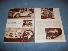 """1936 MG Magnette Model NA Vintage Info Article """"Salon"""""""