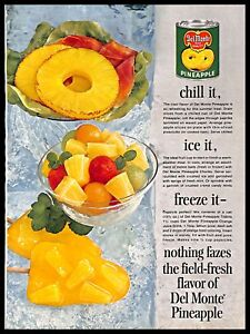 1964 Del Monte Pineapple Vintage PRINT AD Canned Fruits Dessert Recipes Ice