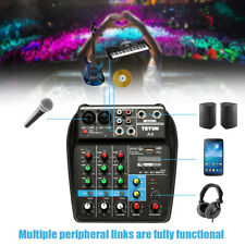 Professional 4 Channel Mixing Studio Audio Sound Mixer Console Bt With Usb S7H7