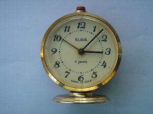 Slava, 11 Jewel, Alarm Clock, Made In USSR.