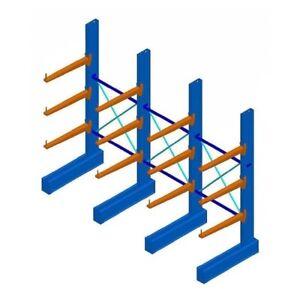 Cantilever Racking System Lumber Rack Heavy Duty 4267mm High Brisbane Melbourne