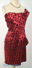 DOTS sexy Dress cocktail pleated strapless mini gown evening dress jungle 16 NEW